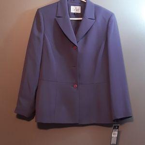 Le Suit 2pc Skirt Blazer sz 14